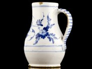 c1750 English Delftware Blue and White Jug