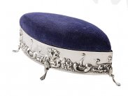 1904 Chester Sterling Silver Pin Cushion Jewellery Box