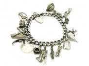 Beautiful Silver Charm Bracelet Jewellery Vintage