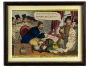 Georgian Satirical Print Secrets upon Secrets John Bull
