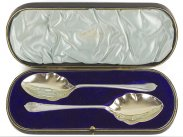 Walker & Hall Boxed Silver Plated Serving Spoons