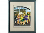 1994 Beryl Cook Signed Limited Edition Print Hen Night