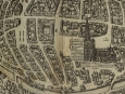 c1572 Engraved Map of Strasbourg by Braun & Hogenberg