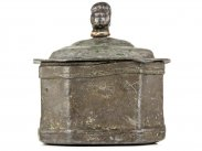 c1800 Georgian Lead Tobacco Jar with Slave Head