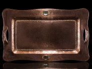c1900 Californian Arts and Crafts Copper Abalone Tray