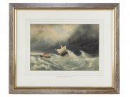 c1830 Fishing Boats in Stormy Sea by Clarkson Stanfield