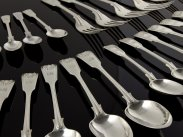 Victorian Sterling Silver 24 Piece Cutlery Set 1877-78