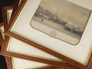 Day & Haghe Victorian Prints Royal Yacht Visit to Plymouth