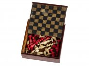 c1820 Georgian Dolls House Miniature Boxed Chess Set