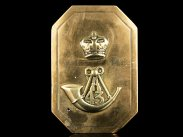 c1840 Shoulder Belt Plate for 43rd Foot Monmouthshire Senior NCO