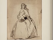 c1835 Ink Doodle of Ada Lovelace by William King MD