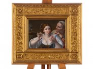 After Angelo Caroselli Allegory of Vanity Miniature Painting