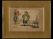 c1820 George Cruikshank View of an Admiral on Crutches