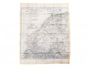 WWII British RAF Silk Escape Map of N Africa & Spain