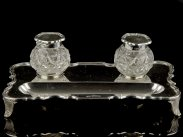 Sterling Silver Inkwell & Tray Writing Set 1924