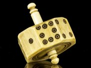 c1800 English Carved & Turned Ivory 8 Sided Spinning Die