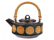 c1978 Troika Pottery Bamboo Handle Tea Pot