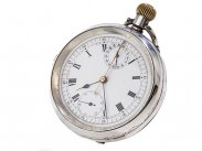 c1890 Rare Chester Silver Chronograph Rattrapante Pocket Watch