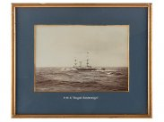 c1892 Original Large Photo of HMS Royal Sovereign Battleship