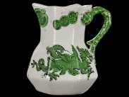c1830 Masons Ironstone Green Dragons Pattern Hydra Jug