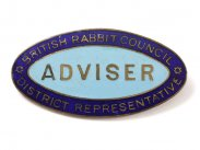 British Rabbit Council Distr. Rep Adviser Badge