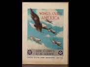 WWII USA Recruiting Poster Wings Over America