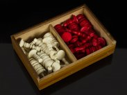 c1880 European Selenus Carved & Turned Bone Chess Set