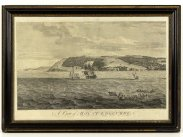 1755 View of Mount Edgcumbe Plymouth Large Print by P.C. Canot