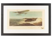 1912 Meeting de St Malo Aircraft Lithograph by Campion