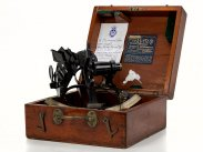 c1898 USA Cased Sextant by Lietz Co for RFA Fort Grange