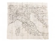 WWII British RAF Silk Escape Map of North & South Italy