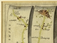1675 John Ogilby Road from London to Pool Coloured Map