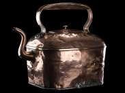c1820 Country Estate Giant Copper & Brass 45 Pint Kettle