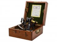 WWII British Boxed 1938 Husun Sextant by H Hughes
