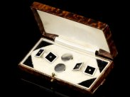 c1930 Art Deco Cased Set Cufflinks & Collar Studs