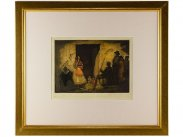 c1925 Signed Coloured Etching Andalucia by Andre Lambert