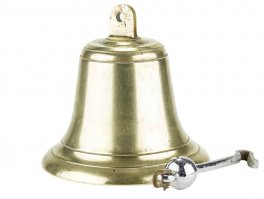 c1930 British 8 Inch Bronze Ship or Fire Bell