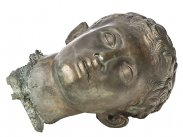c1890 Bronze Head of Herculaneum Seated Hermes