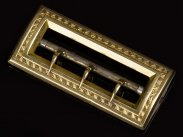 c1860 French 18 Carat Gold Ladies Belt Buckle