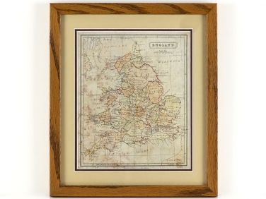 Unusual Victorian Hand Coloured Map of England John Heywood