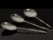 1895 London Sterling Silver Set of Serving Spoons