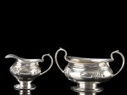 1923 Art Nouveau Silver Cream Jug & Sugar Bowl