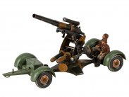 WWII German Tippco Toy Tinplate 88mm Artillery Cannon
