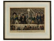 James Gillray Westminster 1806 View of Hustings in Covent Garden
