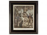c1798 Sailors in Port by Stothard - Ward Mezzotint Print