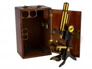 c1895 Cased Bacteriological Microscope by Swift of London