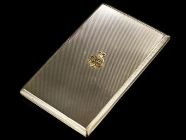 1961 Sterling Silver ERII Grenadier Guard Cigarette Case