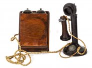 c1919 GPO Candlestick Telephone with Wall Bellset No.1
