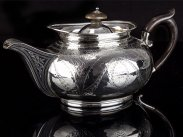 1807 Sterling Silver Gravy Serving Kettle Argyle