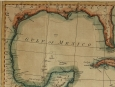 c1777 Map of the Gulf of Mexico by Thomas Kitchin